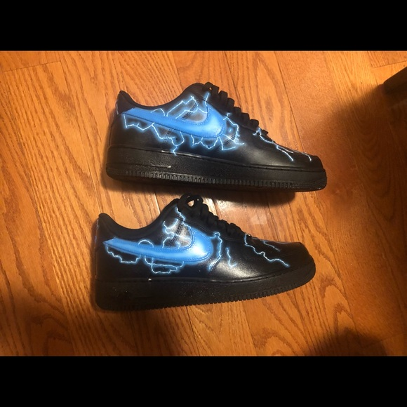 Nike Shoes Custom Air Force 1 Lightning Any Size Poshmark
